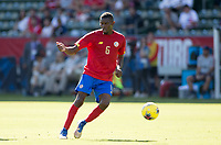 CARSON, CA - FEBRUARY 1: Keyner Brown #6 of Costa Rica moves with the ball during a game between Costa Rica and USMNT at Dignity Health Sports Park on February 1, 2020 in Carson, California.