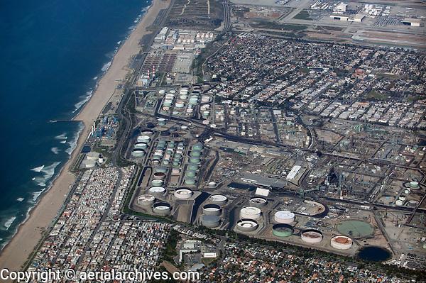 aerial photograph of Chevron Refinery, El Segundo, California