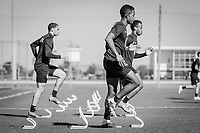 BRADENTON, FL - JANUARY 21: USMNT Field Activation during a training session at IMG Academy on January 21, 2021 in Bradenton, Florida.