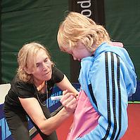 09-02-11Tennis, Rotterdam, ABNAMROWTT,   Kidsplaza, kidspersconferentie met, Kraijcek, Betine Vriesekoop