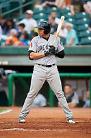 Jackson Generals designated hitter Rudy Flores (11) at bat during a game against the Chattanooga Lookouts on May 9, 2018 at AT&T Field in Chattanooga, Tennessee.  Chattanooga defeated Jackson 4-2.  (Mike Janes/Four Seam Images)