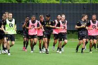 GRONINGEN - Voetbal, Eerste training selectie FC Groningen, seizoen 2021-2022, 26-06-2021, warming uo