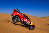 4th January 2021; Dakar Rally stage 2;  311 Roma Nani (esp), Winocq Alexandre (fra), Hunter, Bahrain Raid Extreme, BRX, Auto, action during the 2nd stage of the Dakar 2021 between Bisha and Wadi Al Dawasir, in Saudi Arabia on January 4, 2021