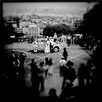 Just Married pose for photos in Paris, France, September 2011...Photo by Roberto Candia