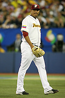 March 8, 2009:  Pitcher Carlos Vasquez (48) of Venezuela during the first round of the World Baseball Classic at the Rogers Centre in Toronto, Ontario, Canada.  Venezuela lost to Team USA 15-6 in both teams second game of the tournament.  Photo by:  Mike Janes/Four Seam Images