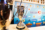 The trophies are shown during the press conference for the HKFC Citi Soccer Sevens Hong Kong 2017 at the Hong Kong Football Club on 07 February 2017 in Hong Kong, China. Photo by Victor Fraile / Power Sport Images