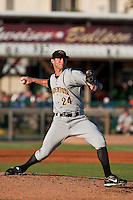 Brian Leach of the Bradenton Marauders during the game at Jackie Robinson Ballpark in Daytona Beach, Florida on August 3, 2010. Photo By Scott Jontes/Four Seam Images