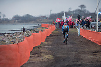 Sanne Cant (BEL) on the way to win her 3rd consecutive World Title<br /> <br /> Women's Elite race<br /> <br /> UCI 2019 Cyclocross World Championships<br /> Bogense / Denmark<br /> <br /> ©kramon