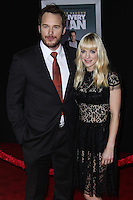 """HOLLYWOOD, CA - NOVEMBER 03: Chris Pratt, Anna Faris at the Los Angeles Premiere Of DreamWorks Pictures' """"Delivery Man"""" held at the El Capitan Theatre on November 3, 2013 in Hollywood, California. (Photo by Xavier Collin/Celebrity Monitor)"""