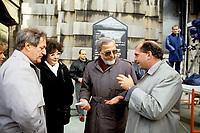 Marc-Andre Bedard, Denis Lazure et Claude Charron<br /> au funerailles de Rene Levesque, le 9 novembre 1987, a Quebec<br /> <br /> PHOTO : Agence Quebec Presse