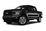 Stock pictures of low aggressive front three quarter view of 2018 Ford F-150 XL-SuperCrew 4 Door Pickup Low Aggressive