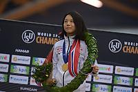 SPEEDSKATING: HAMAR: Vikingskipet, 29-02-2020, ISU World Speed Skating Championships, Sprint, Final Podium, Miho Takagi (JPN), ©photo Martin de Jong