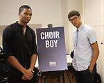 "Daniel Bellomy and Caleb Eberhardt during the MTC Broadway Cast Call for ""Choir Boy"" at The MTC Rehearsal Studios on November 20, 2018 in New York City."