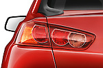Tail light close up detail view of a 2008 Mitsubishi Lancer Evolution