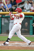 Andrew Brown #24 of the Memphis Redbirds plays for the Pacific Coast League All-Stars in the annual Triple-A All-Star Game against the International League All-Stars at Spring Mobile Ballpark on July 13, 2011  in Salt Lake City, Utah. The International League won the game, 3-0. Bill Mitchell/Four Seam Images.