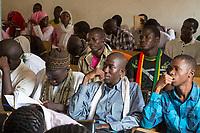 Senegal, Touba.  Students at the Al-Azhar Institute of Islamic Studies.