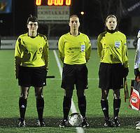 Belgium - Austria : Fania Lammens ,  Sharon Sluyts en Stephanie Forde.foto DAVID CATRY / Vrouwenteam.be