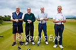 Taking part in the Kerry Shield at Waterville Golf Links on Sunday were l-r; Ger McSweeney(Waterville GC), Captain of the Kerry Clubs John Fleming(Waterville GC), John O'Shea & Tom Galvin(Killarney GC).