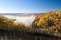 Myst over Edmonton's river valley on a crisp fall mroning