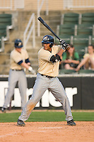 Karexon Sanchez #23 of the Lake County Captains at bat versus the versus the Kannapolis Intimidators at Fieldcrest Cannon Stadium May 3, 2009 in Kannapolis, North Carolina. (Photo by Brian Westerholt / Four Seam Images)
