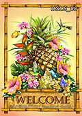 Lori, STILL LIFE STILLEBEN, NATURALEZA MORTA, paintings+++++1-PineappleWelcome,USLS88,#i#, EVERYDAY