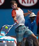 Grigor Dimitrov (BUL) defeats Roberto Bautista Agut (ESP) 6-3, 3-6, 6-2, 6-4 at the Australian Open in Melbourne, Australia on January 20 2014
