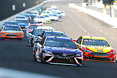 Monster Energy NASCAR Cup Series<br /> Brickyard 400<br /> Indianapolis Motor Speedway, Indianapolis, IN USA<br /> Sunday 23 July 2017<br /> Denny Hamlin, Joe Gibbs Racing, FedEx Cares Toyota Camry and Joey Logano, Team Penske, Shell Pennzoil Ford Fusion<br /> World Copyright: Russell LaBounty<br /> LAT Images