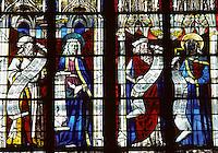 Europe/France/Auverne/63/Puy-de-Dôme/Riom: La Sainte Chapelle - Détail verrières XVème siècle