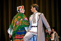 Grupo de dança folclórica em São Petersburgo. Rússia. 2000. Foto de Nair Benedicto.
