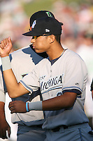 Gorkys Hernandez of the West Michigan Whitecaps during the Midwest League All-Star game.  Photo by:  Mike Janes/Four Seam Images