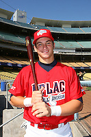 August 9 2008: Michael Zuzino participates in the Aflac All American baseball game for incoming high school seniors at Dodger Stadium in Los Angeles,CA.  Photo by Larry Goren/Four Seam Images