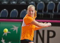 Februari 04, 2015, Apeldoorn, Omnisport, Fed Cup, Netherlands-Slovakia, Training Dutch team, Kiki Bertens <br /> Photo: Tennisimages/Henk Koster