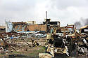 Iraq 2015 On november 15, at the entrance of Sinjar, destruction and mines planted around the city by Daesh<br />
