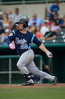 Corpus Christi Hooks third baseman Tyler White (20) follows through on his swing during the Texas League baseball game against the San Antonio Missions on May 10, 2015 at Nelson Wolff Stadium in San Antonio, Texas. The Missions defeated the Hooks 6-5. (Andrew Woolley/Four Seam Images)