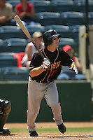 June 15 2007: Nick Haley of the Modesto Nuts during game against the Rancho Cucamonga Quakes at The Epicenter in Rancho Cucamonga,CA.  Photo by Larry Goren/Four Seam Image