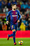 Gerard Pique Bernabeu of FC Barcelona in action during the La Liga 2017-18 match between FC Barcelona and Sevilla FC at Camp Nou on November 04 2017 in Barcelona, Spain. Photo by Vicens Gimenez / Power Sport Images