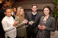 Dan Stack of Chevin Homes is pictured with Graham Penny's Jenna Russell, (left), Olivia Williams, and Aoife Broderick (right)