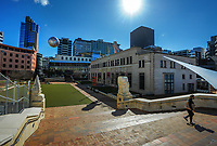 Civic Square, Wellington CBD, at 2pm during Level 4 lockdown for the COVID-19 pandemic in Wellington, New Zealand on Wednesday, 25 August 2021.