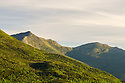 Sunlight on the landscape at the beginning of another beautiful day in New Hampshire's White Mountains.