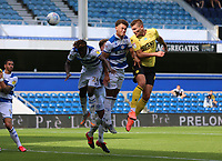 second goal scored for Millwall by Shaun Hutchinson of Millwall during Queens Park Rangers vs Millwall, Sky Bet EFL Championship Football at Loftus Road Stadium on 18th July 2020