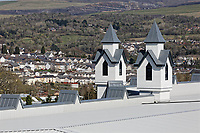 COPY BY TOM BEDFORD<br /> Pictured: Exterior view of the store with the town of Merthyr Tydfil in the background.<br /> Re: Trago Mills Mega Store, which opened its doors in Merthyr Tydfil, and is the largest store in Wales, UK. It is a £65m investment creating 350 jobs in one of Britain's biggest unemployment blackspots