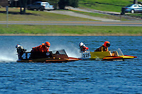 Howie Nichols (4-F) and 22-F,  (hydro)....Stock  Outboard Winter Nationals, Ocoee, Florida, USA.13/14 March, 2010 © F.Peirce Williams 2010