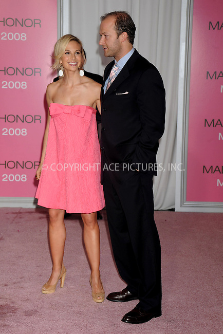 WWW.ACEPIXS.COM . . . . .....April 28, 2008. New York City.....TV personality Elisabeth Hasselback and football player Tim Hasselback arrive at the 'Made of Honor' premiere at the Zeigfeld Theater...  ....Please byline: Kristin Callahan - ACEPIXS.COM..... *** ***..Ace Pictures, Inc:  ..Philip Vaughan (646) 769 0430..e-mail: info@acepixs.com..web: http://www.acepixs.com