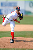RHP Casey Kelly of the Portland Sea Dogs in action vs. the New Britain Rock Cats at Hadlock Field in Portland, Maine on May 31, 2010 (Photo by Ken Babbitt/Four Seam Images)