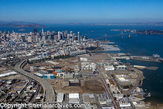 Historical aerial photograph of Mission Bay, San Francisco, California, 2010