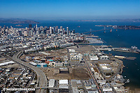 Historical aerial photograph of Mission Bay, San Francisco, California, 2010
