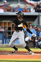 Bradenton Marauders outfielder Raul Fortunato (35) during a game against the Charlotte Stone Crabs on April 4, 2014 at Charlotte Sports Park in Port Charlotte, Florida.  Bradenton defeated Charlotte 9-1.  (Mike Janes/Four Seam Images)