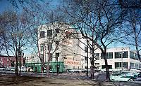 Becker - Mills Pontiac Car Dealership, Exterior of the auto showroom