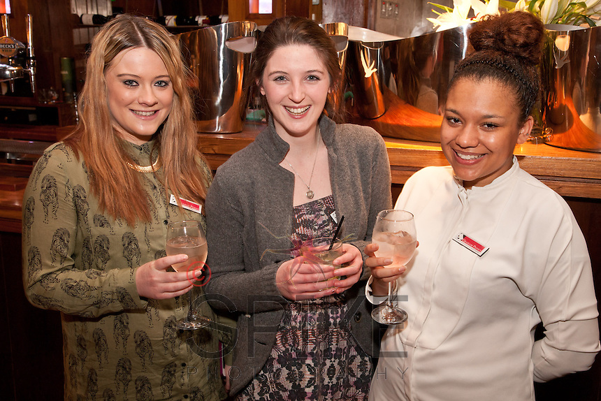 Al smiles - from left Olivia Williams, Aoife Broderick, Jenna Russell all of Graham Penny