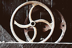 Still life of old wheels